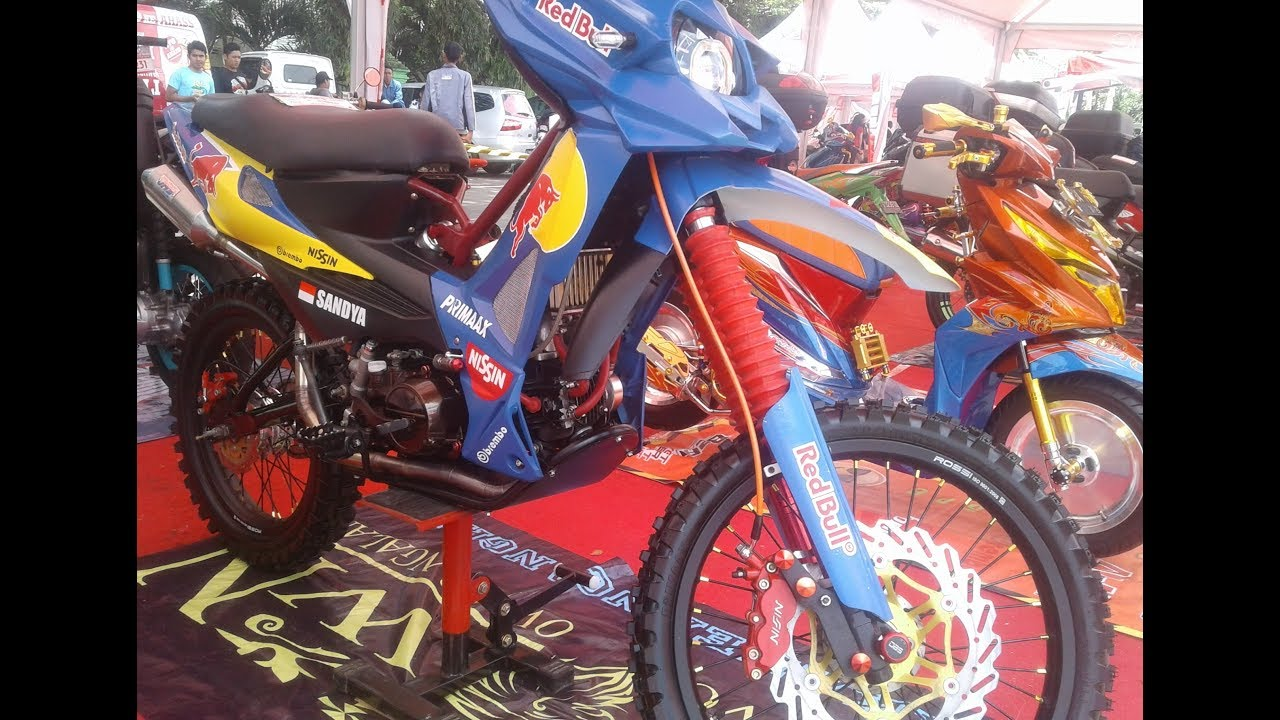 Honda Revo 100 Modifikasi Bebek Trail Enduro Youtube