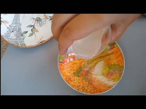 Resin art on melamine and plastic / 2 DIY at one place / trashtag