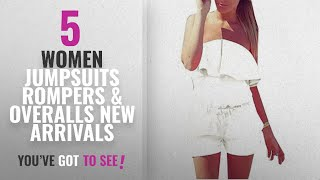 Hot New Arrivals Jumpsuits Rompers & Overalls: Women Summer Midi Shorts Solid Sexy Corset Bodice
