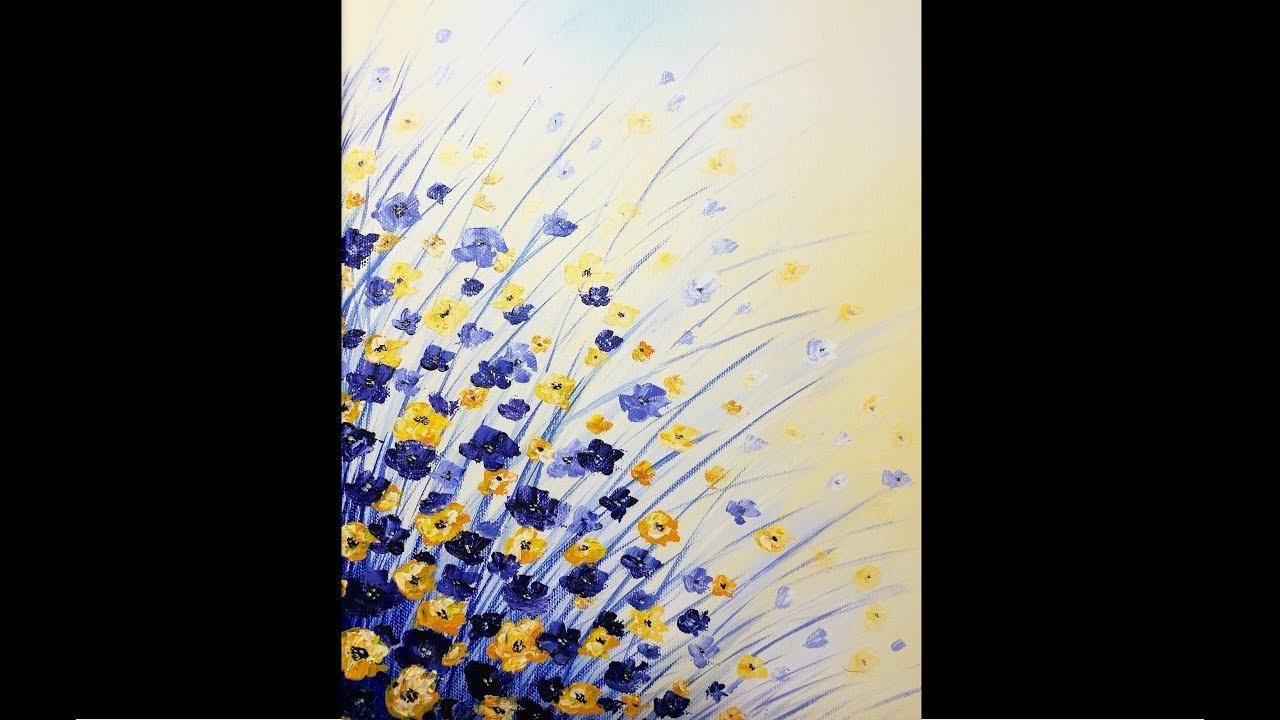 Fleurs Au Couteau Peinture Acrylique Facile Youtube