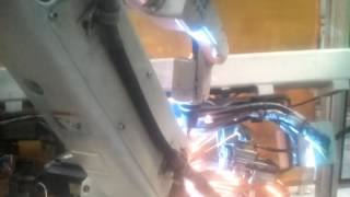 argon welding done with robotised machine