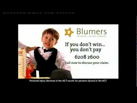 Blumers - Canberra Personal Injury Lawyers - TV Ad 2003