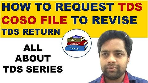 HOW TO REQUEST TDS CONSO FILE TO REVISE TDS RETURN || ALL ABOUT TDS || CA MANOJ GUPTA