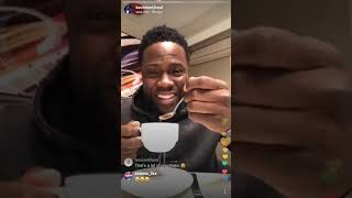 Kevin Hart Talks With Fans On Live