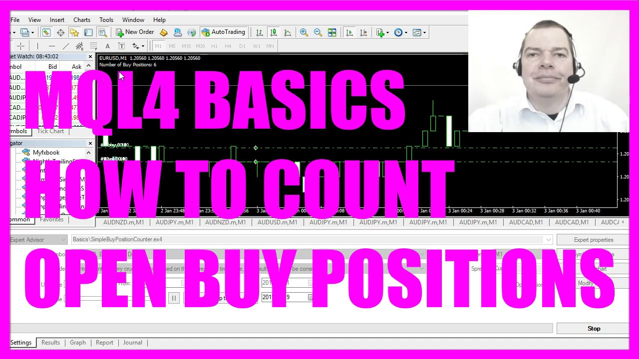 Mql4 Tutorial Basics 28 How To Count Open Buy Positions Youtube