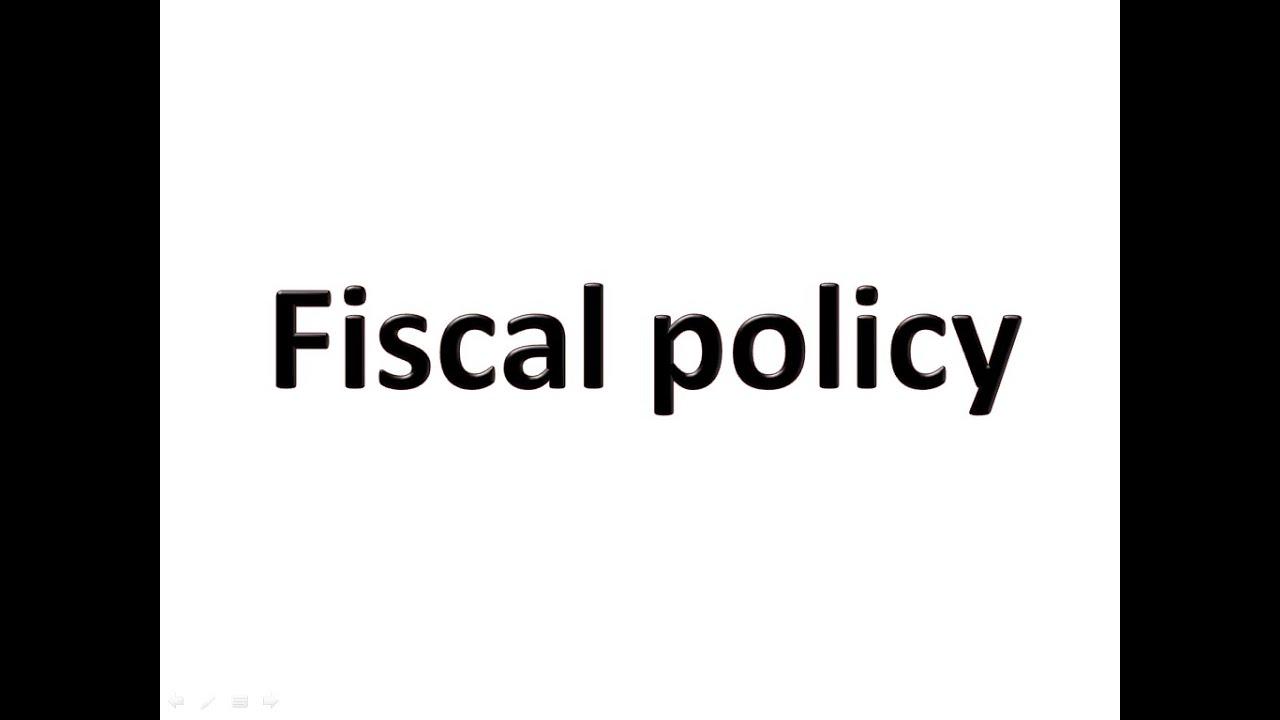 fiscal policy hindi fiscal policy hindi