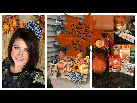 Karen's Vlog: My Fall Outdoor Decor, Tastes of The Autumn Season & Solving The Mystery