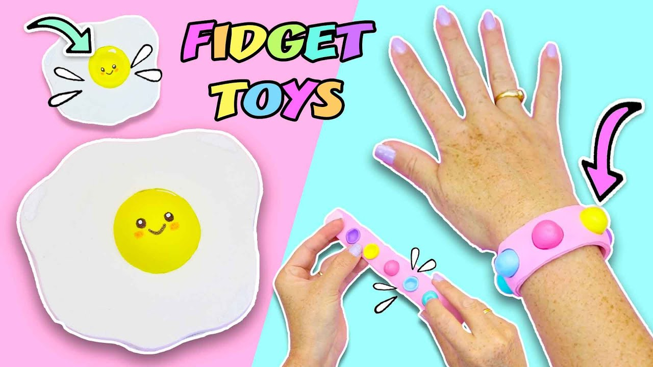 BRACELET Fidget Toy and CUTE EGG Pop it FIDGET TOY - Easy to do at home |  aPasos Crafts DIY - YouTube