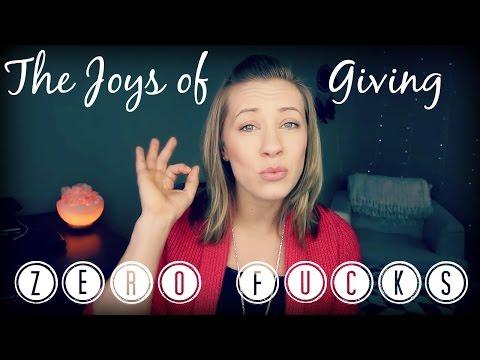 The Joys Of Giving Zero Fucks