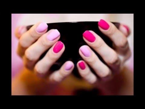 Как накрасить ногти двумя цветами Дизайн ногтей