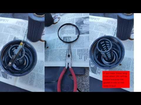 Engine oil and filter change on a 2012 VolksWagen passat 2.5