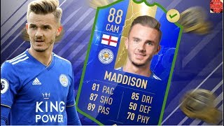 FIFA19|OMG!NEW TOTS (88) JAMES MADDISON PLAYER REVIEW😍💯! IS HE WORTH 100,000 COINS?
