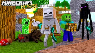 MINECRAFT BUT PLAYING AS EVIL MOBS ONLY!!