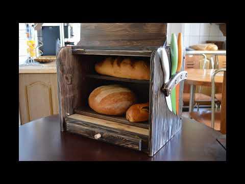 Wooden Breadbox Valburden