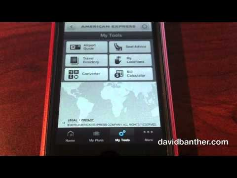 IPhone App: American Express Travel