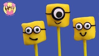 MINIONS MARSHMALLOW POPS - Cutest Minions Movie Treats Ever & Easy - Despicable ME