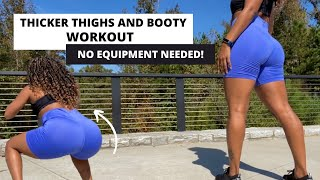 THICKER THIGHS & BΟOTY WORKOUT   easily grow thicker thighs and booty   at home workout