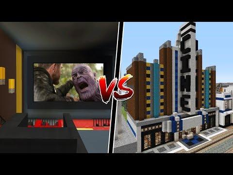 Batalha de Construção: QUEM FAZ O MELHOR CINEMA NO MINECRAFT!