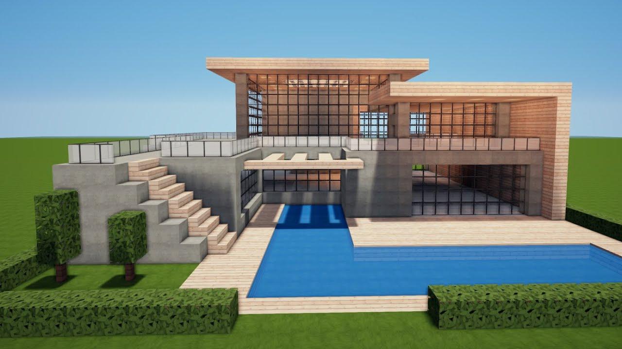 Minecraft Grosses Modernes Haus Bauen Tutorial Haus 148 Youtube