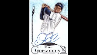 Opening up baseball cards getting didi Gregorius signed card