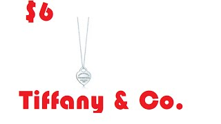 Aliexpress Unboxing: $6 Tiffany & Co. Sterling silver necklace W GIFT BOX!!