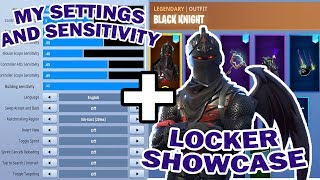 *NEW* Updated Settings And Sensitivity + Locker showcase | Fortnite