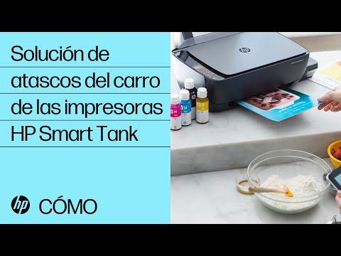 Solución de atascos del carro de las impresoras HP Smart Tank | @HPSupport