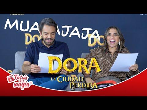 Eugenio e Isabela dramatizan una escena de Dora La Exploradora
