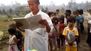 Teacher reads names donated persons