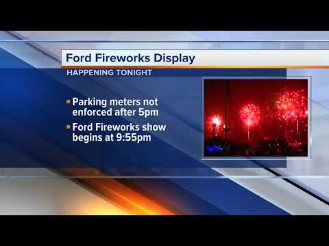 Last-minute preps underway for the Ford Fireworks spectacular
