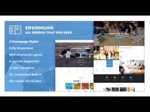 Eduonline - Education & University Joomla Template By SmartAddons   ThemeForest Download