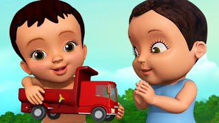 Playing with Toy Trucks   Bengali Rhymes for Children   Infobells
