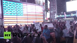RAW: Bloody protest in NYC after Ferguson decision