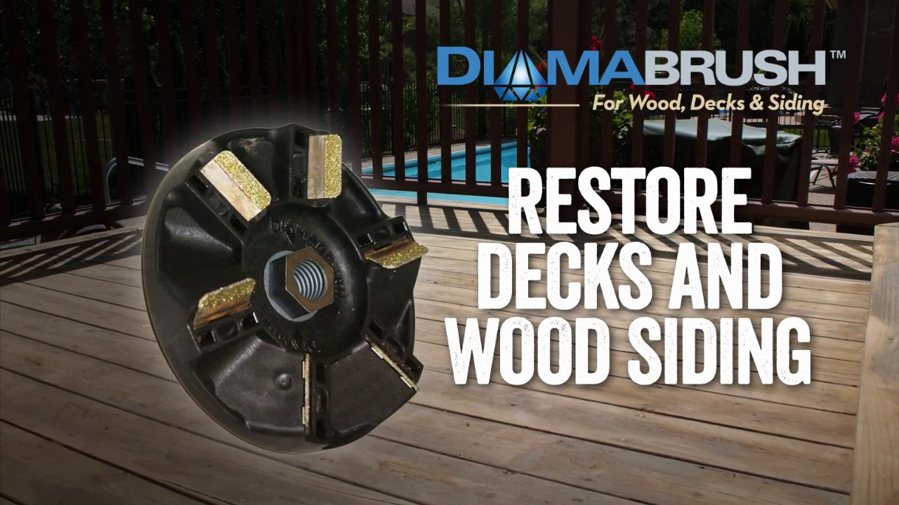 Diamabrush For Wood Decks And Siding Tool Features