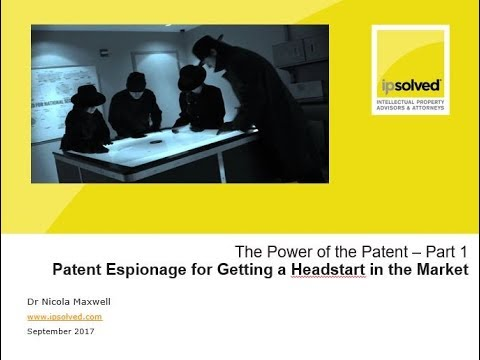 IQ GRID 14 Sep 2017 Patent Espionage for Getting  a Headstart in the Market