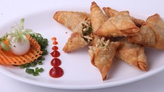PUFFED RICE AND VEGETABLE SAMOSA