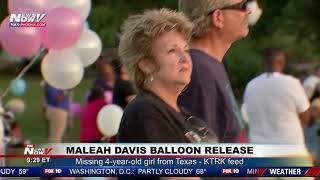 HEARTFELT TRIBUTE: Texans participate in balloon release for missing 4-year-old Maleah Davis