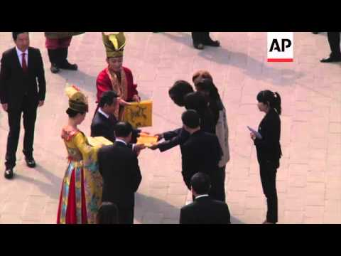 Michelle Obama visits site of the Terracotta Army as she continues visit to China
