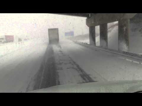 London 401e, snow storm