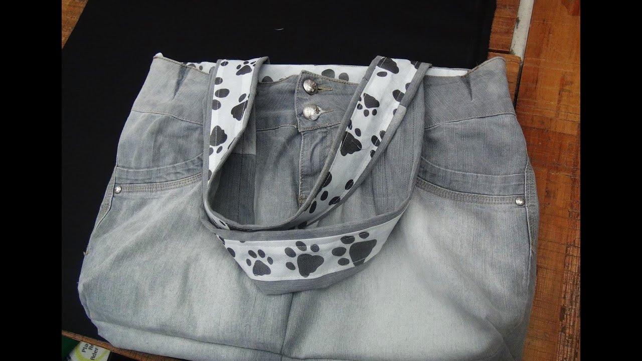 Bolsa De Tecido E Jeans : Bolsa de cal?a jeans reciclada