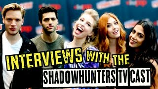 INTERVIEWING THE SHADOWHUNTERS CAST | 2016