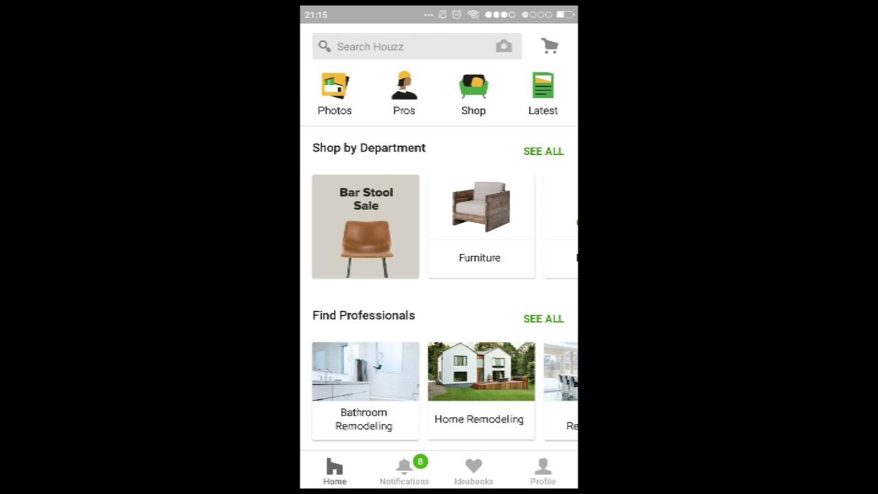 Aplikasi Arsitek Desain Interior Rumah di Android dengan Houzz Interior Design Ideas