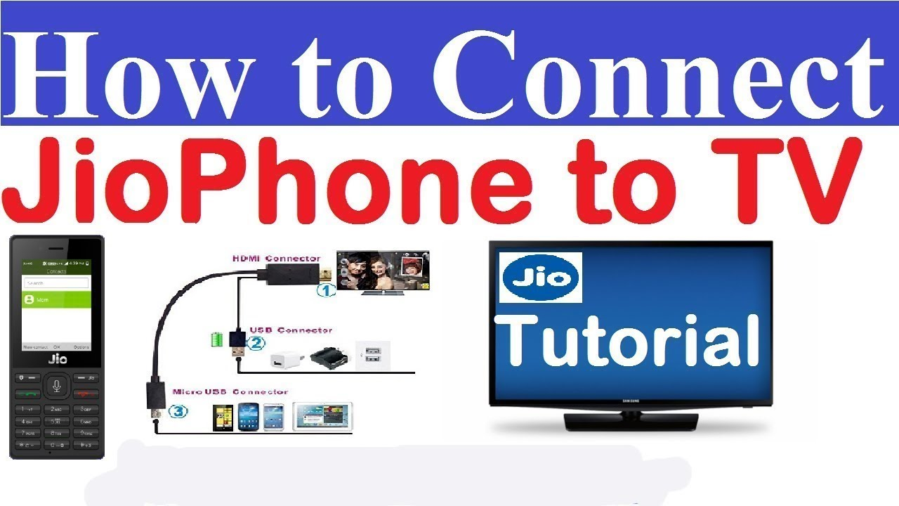 How To Connect JioPhone To TV By Jio Media Cable{www.techxpertbangla.com}