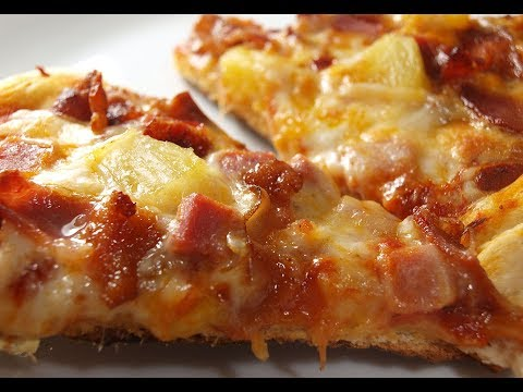 Hawaiian Pizza with Ham and Bacon