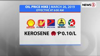 OIL PRICE HIKE | March 26, 2019