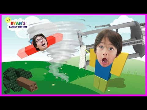 Family Game Night! Let's Play Roblox Survive The Tornado with Ryan's Family Review