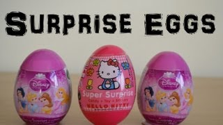 Hello Kitty Sanrio Disney Princess Surprise eggs hello kitty  キティ・ホワイト  Kiti howaito Cinderella (HD)
