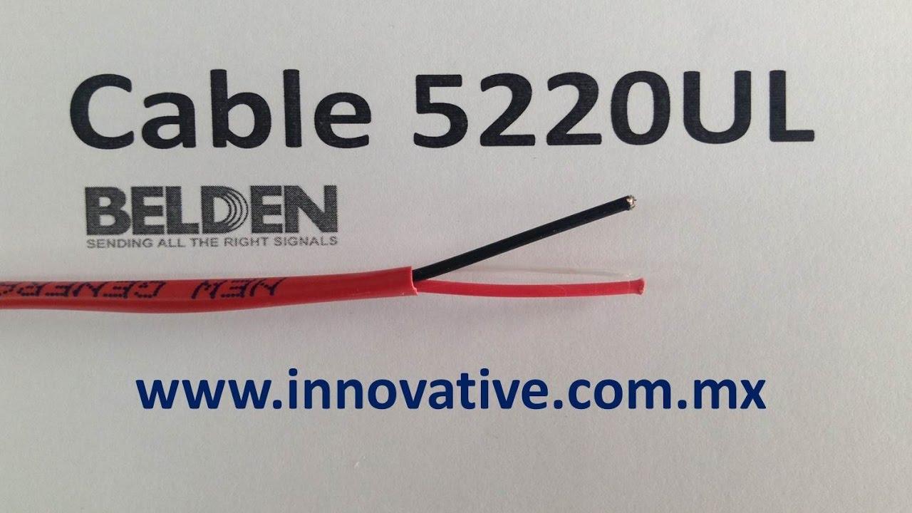 Cable 5220UL Belden - YouTube