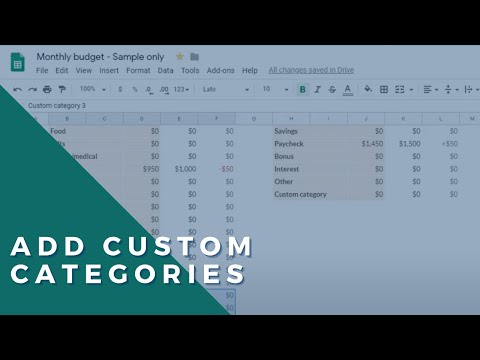 How to use the Google Sheets budget template (Free