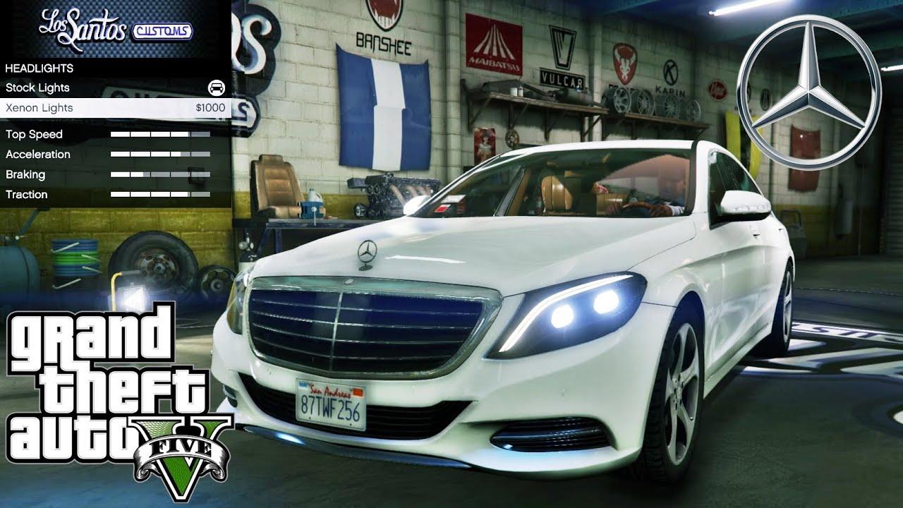 Mercedes Benz S500 Gta V Car Mod Tuning Soley911 Youtube